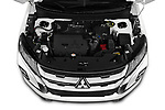 Car stock 2020 Mitsubishi ASX Intense 5 Door SUV engine high angle detail view