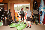 April 30, 2012. Charlotte, NC.. Erik Weihenmayer and his partner on the river Rob Raker, get ready to get in the water.. Erik Weihenmayer, who has been completely blind since age 13, is training at the United States National White Water Center in an attempt to kayak through the Grand Canyon. Weihenmayer is an accomplished outdoorsman who has climbed the 7 Summits, and is the only blind person to climb Mount Everest.