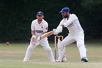 F Butt in batting action for Upminster during Upminster CC vs Hornchurch CC, Shepherd Neame Essex League Cricket at Upminster Park on 8th July 2017