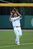 South Florida Bulls outfielder Daniel Portales (29) catches a fly ball during a game against the Florida State Seminoles on March 5, 2014 at Red McEwen Field in Tampa, Florida.  Florida State defeated South Florida 4-1.  (Copyright Mike Janes Photography)