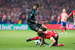 Atletico de Madrid's Diego Godin and Chelsea's Alvaro Morata during UEFA Champions League match between Atletico de Madrid and Chelsea at Wanda Metropolitano in Madrid, Spain September 27, 2017. (ALTERPHOTOS/Borja B.Hojas)
