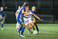 Allston, MA - Wednesday Sept. 07, 2016: Kylie Strom, Lynn Williams, Brittany Ratcliffe during a regular season National Women's Soccer League (NWSL) match between the Boston Breakers and the Western New York Flash at Jordan Field.