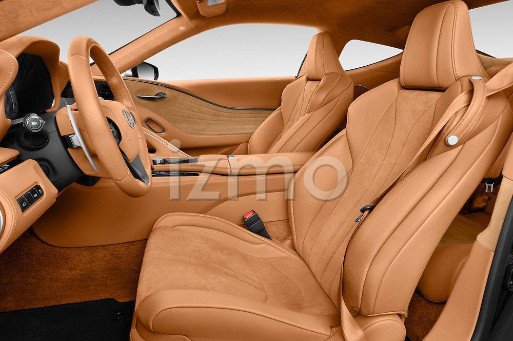 Front seat view of a 2018 Lexus LC 500 Sport Plus 2 Door Coupe front seat car photos