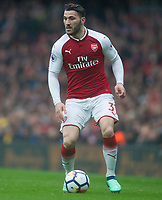Arsenal Sead Kolasinac during the EPL - Premier League match between Arsenal and Southampton at the Emirates Stadium, London, England on 8 April 2018. Photo by Andrew Aleksiejczuk / PRiME Media Images.