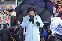 "NEW YORK - DECEMBER 31: Steve Harvey hosts ""FOX'S New Years Eve with Steve Harvey: Live From Times Square"" on December 31, 2018 in New York City. (Photo by Stephen Smith/Fox/PictureGroup)"