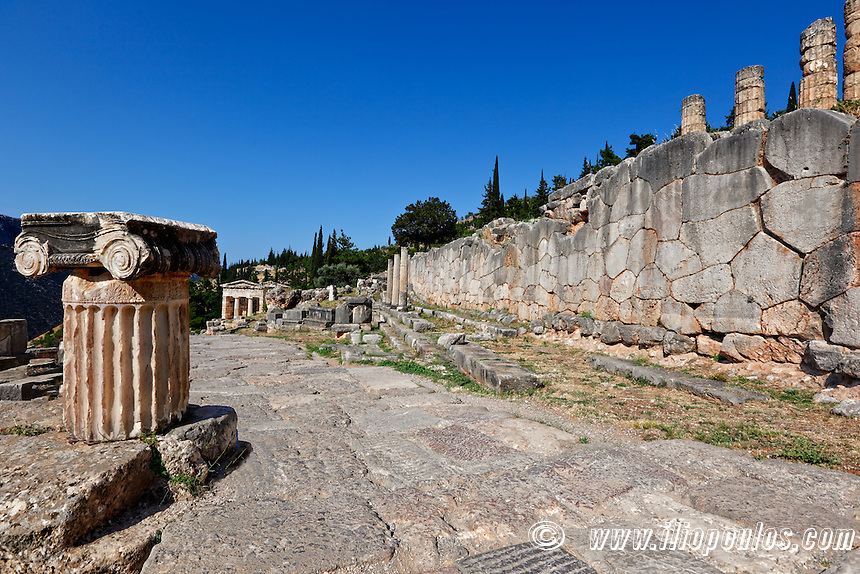 The Sacred Way (Archaic Period) in Delphi, Greece