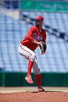 Philadelphia Phillies pitcher Keylan Killgore (40) delivers a pitch during a Florida Instructional League game against the Toronto Blue Jays on September 24, 2018 at Spectrum Field in Clearwater, Florida.  (Mike Janes/Four Seam Images)