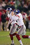 New York Giants kicker Lawrence Tynes (9) and holder Steve Weatherford celebrate the winning field goal in overtime during an NFC Championship NFL football game against the San Francisco 49ers on January 22, 2012 in San Francisco, California. The Giants won 20-17 in overtime. (AP Photo/David Stluka)