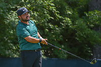 J.J. Spaun (USA) watches his tee shot on 9 during 3rd round of the 100th PGA Championship at Bellerive Country Club, St. Louis, Missouri. 8/11/2018.<br /> Picture: Golffile | Ken Murray<br /> <br /> All photo usage must carry mandatory copyright credit (&copy; Golffile | Ken Murray)