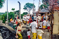 Bali, Badung, Uluwatu. Pura Luhur Uluwatu is an important hindu temple on Bali, and ceremonies are often held here.