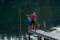 Fishing in Beavercreek in Albemarle County, VA. Photo/Andrew Shurtleff