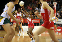01.11.2012 England's Sasha Corbin in action during the netball test match between England and South Africa as part of the Quad Series played at the Claudelands Arena in Hamilton. Mandatory Photo Credit ©Michael Bradley.