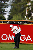Stephen Gallacher (SCO) on the 2nd during the final day of the Omega European Masters, Crans-Sur-Sierre, Crans Montana, Switzerland.4/9/11.Picture: Golffile/Fran Caffrey..