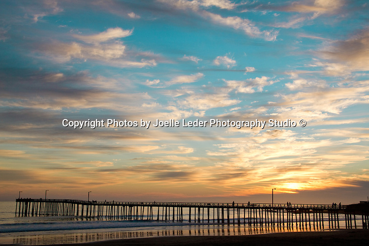 BLUE RIBBON/1st place in Sunrise, Sunset, Cloud category | Cayucos Pier at Sunset<br />