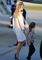 www.acepixs.com<br /> <br /> February 10 2017, West Palm Beach, FL<br /> <br /> Ivanka Trump and her children arrive with President Donald Trump and his wife Melania Trump on Air Force One at the Palm Beach International Airport as they prepare to spend part of the weekend together at Mar-a-Lago resort on February 10, 2017 in West Palm Beach, Florida.<br /> <br /> Shinzo Abe and his wife Akie Abe<br /> <br /> By Line: Solar/ACE Pictures<br /> <br /> ACE Pictures Inc<br /> Tel: 6467670430<br /> Email: info@acepixs.com<br /> www.acepixs.com