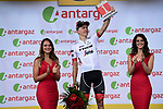 Toms Skujins (LAT) Trek-Segafredo wins the days combativity award at the end of Stage 5 of the 2018 Tour de France running 204.5km from Lorient to Quimper, France. 11th July 2018. <br /> Picture: ASO/Pauline Ballet | Cyclefile<br /> All photos usage must carry mandatory copyright credit (&copy; Cyclefile | ASO/Pauline Ballet)