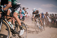Oliver Naesen (BEL/AG2R-La Mondiale) on pav&eacute; sector #2<br /> <br /> Stage 9: Arras Citadelle &gt; Roubaix (154km)<br /> <br /> 105th Tour de France 2018<br /> &copy;kramon