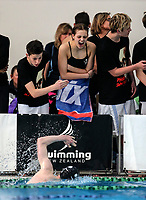 Supporters in action during the Swimming New Zealand Short Course Championships,Owen G Glenn National Aquatic Centre, Auckland, New Zealand, Tuesday 3 October 2017. Photo: Simon Watts/www.bwmedia.co.nz