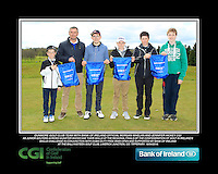 Dunmore GC team with Bank of Ireland Official Morgan Whelan and CGI Participation Officer Jennifer Hickey with Junior golfers across Munster practicing their skills at the regional finals of the Dubai Duty Free Irish Open Skills Challenge at the Ballykisteen Golf Club, Limerick Junction, Co. Tipperary. 16/04/2016.<br /> Picture: Golffile | Thos Caffrey<br /> <br /> <br /> <br /> <br /> <br /> All photo usage must carry mandatory copyright credit (© Golffile | Thos Caffrey)