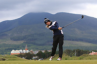 Cecilie Finne-Ipsen (DEN) on the 2nd tee during Round 1 of the Women's Amateur Championship at Royal County Down Golf Club in Newcastle Co. Down on Tuesday 11th June 2019.<br /> Picture:  Thos Caffrey / www.golffile.ie<br /> <br /> All photos usage must carry mandatory copyright credit (© Golffile | Thos Caffrey)
