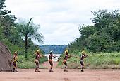 Xingu Indigenous Park, Mato Grosso State, Brazil. Aldeia Matipu (Matipu). Taquara Festival.