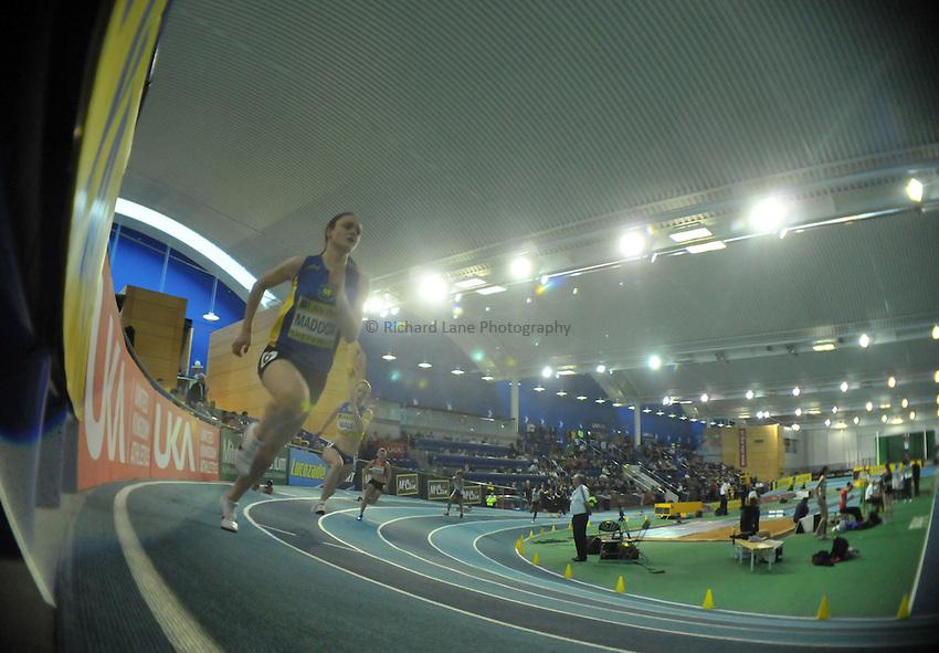 Photo: Tony Oudot/Richard Lane Photography. Aviva World Trials & UK Championships. 13/02/2010. .Womens 400m Heats.