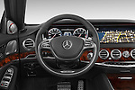 Car pictures of steering wheel view of a 2014 Mercedes Benz S-Class S63 AMG 4 Door Sedan Steering Wheel