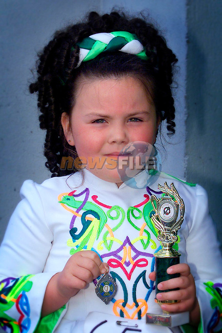 Rebecca Curran, pictured at the Boyneside feis on Sunday where she won a trophy..Picture: Arthur Carron/Newsfile