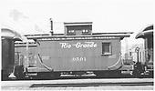 Short caboose #0501 in Durango, CO.<br /> D&amp;RGW  Durango, CO  4/1948