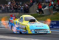 Jul. 18, 2014; Morrison, CO, USA; NHRA funny car driver Bob Tasca III during qualifying for the Mile High Nationals at Bandimere Speedway. Mandatory Credit: Mark J. Rebilas-