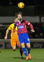 Frankie Raymond of Dagenham & redbridge in action during the Sky Bet League 2 match between Dagenham and Redbridge and Wycombe Wanderers at the London Borough of Barking and Dagenham Stadium, London, England on 9 February 2016. Photo by Andy Rowland.