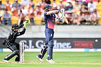 England batsman Ben Stokes takes an evasive action while batting during the Third ODI game between Black Caps v England, Westpac Stadium, Wellington, Saturday 03rd March 2018. Copyright Photo: Raghavan Venugopal / © www.Photosport.nz 2018