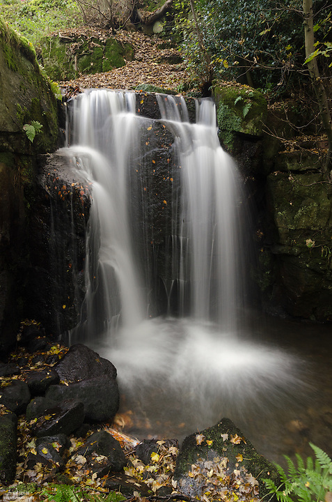 Waterfall at Lumsdale Portrait