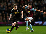 Kevin De Bruyne of Manchester City surges past Daniel Drinkwater of Aston Villa  during the Premier League match at Villa Park, Birmingham. Picture date: 12th January 2020. Picture credit should read: Darren Staples/Sportimage