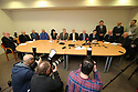 Hooded men Lawyer Darragh Mackin speaks during an Amnesesty International press conference in Belfast, Northern Ireland, Tuesday 20th of March 2018. The European Court of Human Rights (ECHR) has rejected a request to find that men detained during internment in Northern Ireland suffered torture. The so-called hooded men claimed they were subjected to torture by the British army in 1971. Lawyers for the men have called on the Irish government to appeal. In 1978, the European Court of Human Rights held that the UK had carried out inhuman and degrading treatment. Photo/Paul McErlane