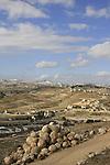 Judea, ballista stones at the Herodion