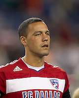 FC Dallas midfielder Daniel Hernandez (2). In a Major League Soccer (MLS) match, the New England Revolution defeated FC Dallas, 2-0, at Gillette Stadium on September 10, 2011.
