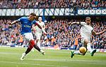 28.04.2019 Rangers v Aberdeen: James Tavernier's shot blocked by Max Lowe
