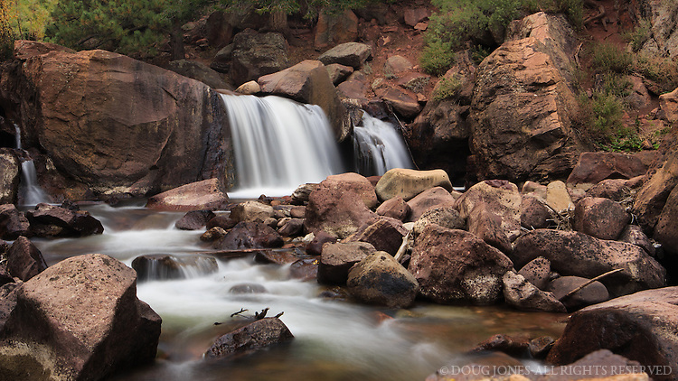 """These falls on South Boulder Creek in Eldorado Canyon State Park have, by some estimates, cascaded against these rocks for 1.5 billion years. Adds new meaning to the phrase """"a brief moment in time."""""""