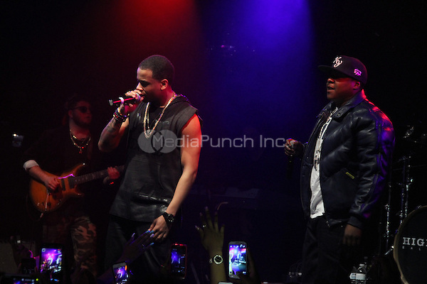 NEW YORK, NY - APRIL 2, 2014<br /> Mack Wilds &amp; Jadakiss perform at Highline Ballroom April2, 2014 in New York City.<br /> Walik Goshorn/MediaPunch