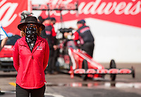 Feb 23, 2020; Chandler, Arizona, USA; Kay Torrence, wife of NHRA top fuel driver Billy Torrence during the Arizona Nationals at Wild Horse Pass Motorsports Park. Mandatory Credit: Mark J. Rebilas-USA TODAY Sports