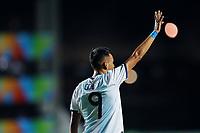 03th November 2019; Kleber Andrade Stadium, Cariacica, Espirito Santo, Brazil; FIFA U-17 World Cup Brazil 2019, Argentina versus Tajikistan; Matias Godoy of Argentina celebrates his goal in the 89th minute, 3-1