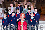Castleisland Boys NS with their pupils with Bishop Ray Browne at their Confirmation in St Stephen and John church Castleisland on Thursday
