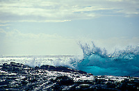 Waves breaking along the south Kohala coast