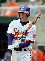 Clemson outfielder Alex Lee in a game between the Clemson Tigers and Mercer Bears on Feb. 24, 2008, at Doug Kingsmore Stadium in Clemson, S.C. Photo by: Tom Priddy/Four Seam Images
