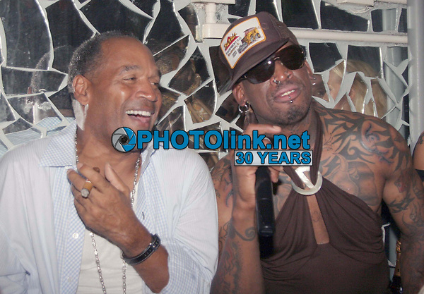 Dennis Rodman and OJ Simpson<br /> 2006<br /> Photo By JR Davis/PHOTOlink.net