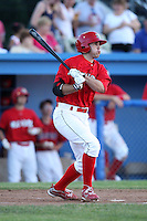 Batavia Muckdogs catcher Geoffrey Klein (32) during a game vs. the Auburn Doubledays at Dwyer Stadium in Batavia, New York June 19, 2010.   Batavia defeated Auburn 2-1.  Photo By Mike Janes/Four Seam Images