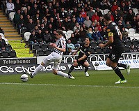 Beram Kayal has a shot in the St Mirren v Celtic Clydesdale Bank Scottish Premier League match played at St Mirren Park, Paisley on 20.10.12.