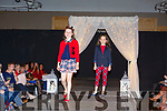 The first two models on the catwalk at the Adapt Fashion Show in Ballyroe Heights Hotel on Friday night. <br /> L-r, Ella Kelliher and Caitlin Diggins,