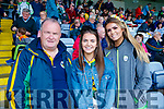 Matthew Kelly, Tarbert, Niamh McMahon, Tralee and Celine O'Meara, Tralee Kerry supporters for the double header in Portlaoise on Saturday.